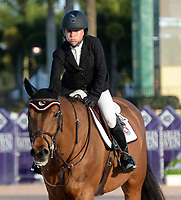WELLINGTON, FL - MARCH 01: Former New York City Mayor Michael Bloomberg's daughter Georgina Bloomberg finishes a disappointing 32nd as she participants in the $150,000 Lugano Diamonds Grand Prix with her horse Lilli at the Winter Equestrian Festival at Palm Beach International Equestrian Center on March 1, 2015 in Wellington, Florida<br /> <br /> <br /> People:  Georgina Bloomberg