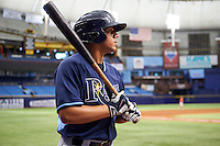 Tampa Bay Rays Rene Pinto (50) during an instructional league game against the Boston Red Sox on September 24, 2015 at Tropicana Field in St Petersburg, Florida.  (Mike Janes/Four Seam Images)