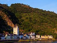 St. Goarshausen, Rheinland-Pfalz, Deutschland, Europa<br /> St. Goarshausen at river Rhine, Rhineland-Palatinate, Germany, Europe