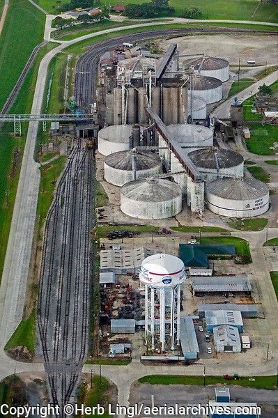 aerial photograph of Cargill storage at the Port of Greater Baton Rouge, Port Allen, Louisiana