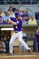 LSU Tigers shortstop Alex Bregman #8 at bat during the Southeastern Conference baseball game against the Georgia Bulldogs on March 22, 2014 at Alex Box Stadium in Baton Rouge, La. The Tigers defeated the Bulldogs 2-1. (Andrew Woolley/Four Seam Images)