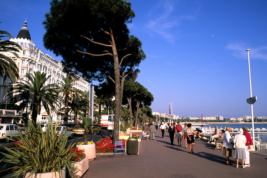 Riviera Boulevard scenic in Cannes France