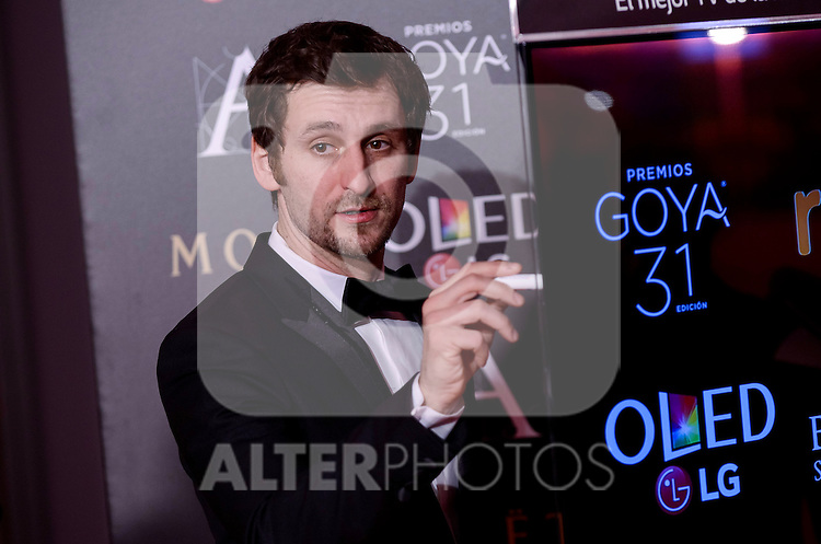 Raul Arevalo attends to the Red Carpet of the Goya Awards 2017 at Madrid Marriott Auditorium Hotel in Madrid, Spain. February 04, 2017. (ALTERPHOTOS/BorjaB.Hojas)
