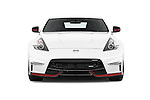 Car photography straight front view of a 2015 Nissan 370Z NISMO 2 Door Coupe Front View