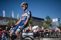 race winner Jerome Baugnies (BEL/Wanty - GroupeGobert) crosses the finish-line victoriously for a 2nd year in a row<br /> <br /> Vlaamse Druivenkoers 2016