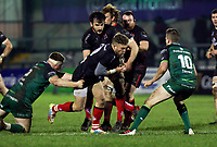 27th December 2020 | Connacht  vs Ulster <br /> <br /> Ian Madigan is tackled by Shane Delahunt and Jack Carty  during the PRO14 Round 9 clash again Connacht at the Sportsground in Galway, Ireland. Photo by John Dickson/Dicksondigital