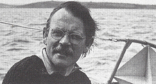 Dick Richardson in 1972 aboard his boat of the time, the Hustler 30 Skulmartin, which he'd completed himself from a bare hull. Photo: W M Nixon