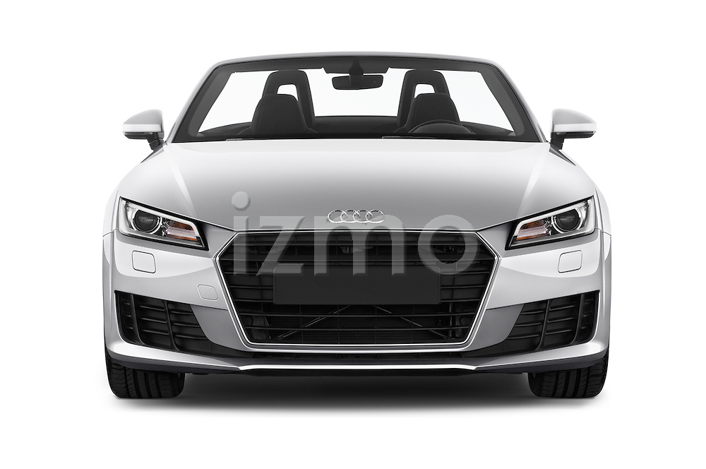 Car photography straight front view of a 2016 Audi TT-Roadster - 2 Door Convertible Front View