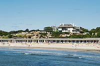 Spouting Rock Beach Association, also known as Bailey's Beach is an elite private beach and club in Newport, Rhode Island, USA