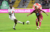 IBAGUÉ- COLOMBIA,20-07-2019:Acción de juego entre los equipos  del Deportes Tolima y el América de Call durante  partido por la fecha 2 de la Liga Águila II 2019 jugado en el estadio Manuel Murillo Toro de la ciudad de Ibagué. /Action game between teams  Deportes Tolima and America de Cali during the 2 match for  the Liga Aguila I I 2019 played at the Manuel Murillo Toro stadium in Ibague city. Photo: VizzorImage / Juan Carlos Escobar  / Contribuidor