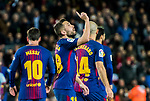 Jordi Alba Ramos of FC Barcelona celebrates during the Copa Del Rey 2017-18 Round of 16 (2nd leg) match between FC Barcelona and RC Celta de Vigo at Camp Nou on 11 January 2018 in Barcelona, Spain. Photo by Vicens Gimenez / Power Sport Images