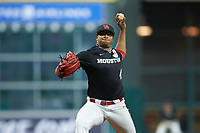 Houston Cougars starting pitcher Aaron Fletcher (47) in action against the Mississippi State Bulldogs in game six of the 2018 Shriners Hospitals for Children College Classic at Minute Maid Park on March 3, 2018 in Houston, Texas. The Bulldogs defeated the Cougars 3-2 in 12 innings. (Brian Westerholt/Four Seam Images)