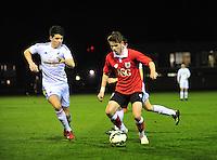 Swansea, wales. <br /> Thursday 9th March 2015..<br /> <br /> Swansea's Joseph Jones on the ball