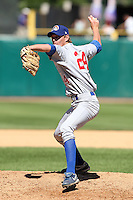 Peoria Chiefs pitcher Daniel Keefe (24) during a game vs. the Kane County Cougars at Elfstrom Stadium in Geneva, Illinois August 15, 2010.   Peoria defeated Kane County 8-4.  Photo By Mike Janes/Four Seam Images