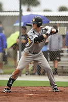 Justin Bellinger, #7 of St. Sebastians High School, Massachusetts playing for the Evoshield Canes during the WWBA World Champsionship 2012 at the Roger Dean Complex on October 25, 2012 in Jupiter, Florida. (Stacy Jo Grant/Four Seam Images).