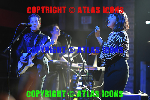 FORT LAUDERDALE FL - DECEMBER 04: Thom Powers and Alisa Xayalith of The Naked and Famous perform at Revolution on December 4, 2016 in Fort Lauderdale, Florida. Photo by Larry Marano © 2016