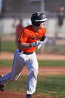 Hayden Netland (52), from Moorhead, Minnesota, while playing for the Orioles during the Under Armour Baseball Factory Recruiting Classic at Gene Autry Park on December 30, 2017 in Mesa, Arizona. (Zachary Lucy/Four Seam Images)