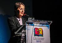 SAO PAULO, SP, 09 AGOSTO 2012 - ABERTURA BIENAL INTERNACIONAL DO LIVRO - Ministra da Cultura Ana de Holanda durante cerimonia de abertura da 22ª  Bienal Internacional do Livro de São Paulo, no Anhembi na regiao norte da capital paulista, nesta quinta-feira, 09. (FOTO: VANESSA CARVALHO / BRAZIL PHOTO PRESS).
