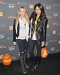 Ashley Benson and Shay Mitchell  at 3rd Annual Los Angeles Haunted Hayride held at Griffith Park, Old Zoo in Los Angeles, California on October 09,2011                                                                               © 2011 Hollywood Press Agency