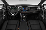 Stock photo of straight dashboard view of 2018 Toyota RAV4 SE 5 Door SUV Dashboard