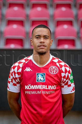 16th August 2020, Rheinland-Pfalz - Mainz, Germany: Official media day for FSC Mainz players and staff; Robin Kwamina Quaison FSV Mainz 05