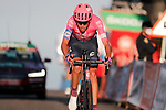 Hugh Carthy (GBR) EF Pro Cycling crosses the finish line in 5th place at the end of Stage 8 of the Vuelta Espana 2020 running 160km from Logroño to Alto de Moncalvillo, Spain. 28th October 2020.   <br /> Picture: Luis Angel Gomez/PhotoSportGomez | Cyclefile<br /> <br /> All photos usage must carry mandatory copyright credit (© Cyclefile | Luis Angel Gomez/PhotoSportGomez)