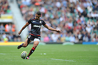 Alex Lozowski of Saracens takes a conversion attempt during the Aviva Premiership Rugby match between Saracens and Worcester Warriors at Twickenham Stadium on Saturday 03 September 2016 (Photo by Rob Munro/Stewart Communications)
