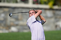 SAPPHIRE, NC - OCTOBER 01: Zach Caudill of Western Carolina University tees off at The Country Club of Sapphire Valley on October 01, 2019 in Sapphire, North Carolina.