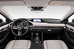 Stock photo of straight dashboard view of 2020 Mazda Mazda3 Skycruise 4 Door Sedan Dashboard