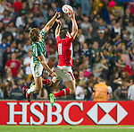 South Africa play Wales during Day 1 of the Cathay Pacific / HSBC Hong Kong Sevens 2012 at the Hong Kong Stadium in Hong Kong, China on 23rd March 2012. Photo © Manuel Queimadelos / PSI for FastTrack HSBC