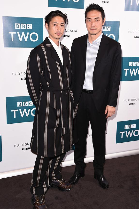 "Yosuke Kubozuka and Takehiro Hira<br /> arriving for the"" GIRI/HAJI"" screening at the Curzon Bloomsbury, London<br /> <br /> ©Ash Knotek  D3521 25/09/2019"
