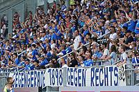 Fans des SV Darmstadt 98 gegen Rechts<br /> <br /> - 24.07.2021 Fussball 2. Bundesliga, Saison 21/22, Spieltag 1, SV Darmstadt 98 - SV Jahn Regensburg, Stadion am Boellenfalltor, emonline, emspor, <br /> <br /> Foto: Marc Schueler/Sportpics.de<br /> Nur für journalistische Zwecke. Only for editorial use. (DFL/DFB REGULATIONS PROHIBIT ANY USE OF PHOTOGRAPHS as IMAGE SEQUENCES and/or QUASI-VIDEO)