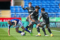 12th September 2020; Cardiff City Stadium, Cardiff, Glamorgan, Wales; English Championship Football, Cardiff City versus Sheffield Wednesday; Joe Ralls of Cardiff City is tackled by Isaiah Brown of Sheffield Wednesday