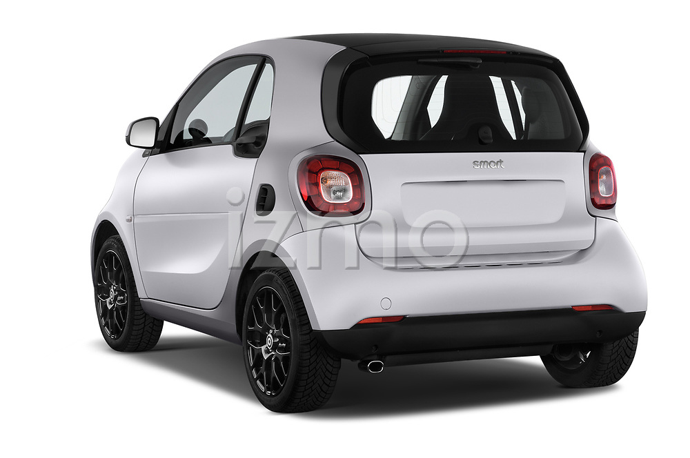 Car pictures of rear three quarter view of 2017 Smart fortwo prime 3 Door micro car angular rear