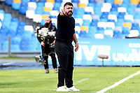 Gennaro Gattuso coach of SSC Napoli reacts during the Serie A football match between SSC Napoli and Atalanta BC at San Paolo stadium in Naples (Italy), October 17th 2020. Photo Cesare Purini / Insidefoto