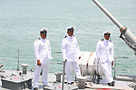 OFFICERS ON SHIP IN MEXICAN NAVY ATTEND ANNUAL NAVY DAY FESTIVAL