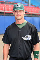 Southwest Michigan Devil Rays Garrett Groce poses for a photo before a Midwest League game at C.O. Brown Stadium on July 14, 2006 in Battle Creek, Michigan.  (Mike Janes/Four Seam Images)