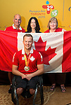 Toronto 2015.<br /> Zak Madell is named Canada's Closing Ceremonies flag bearer // Zak Madell est nommé porte-drapeau des cérémonies de clôture du Canada. 15/08/2015.