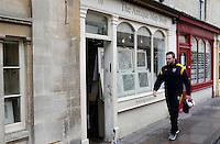 Photo: Richard Lane/Richard Lane Photography. Bath Rugby v Wasps. Aviva Premiership. 04/02/2017. Wasps' Matt Mullan walks to the ground.