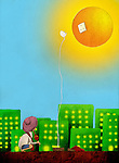 Conceptual image representing the use of solar energy