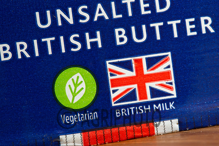 17-2-2021 British butter pack <br /> ©Tim Scrivener Photographer 07850 303986<br />      ....Covering Agriculture In The UK....