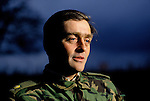 Duke of Westminster portrait the 6th duke, Salisbury Plain weekend exercises with the Territorial Army on Wiltshire UK 1990s