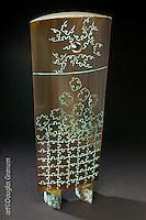 """Jigsaw"", Fabricated bronze sculpture by artist Douglas Granum incorporating engraving and patina;  www.douglasgranum.com"