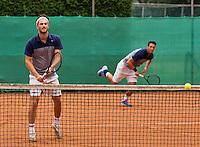 August 17, 2014, Netherlands, Raalte, TV Ramele, Tennis, National Championships, NRTK, Mens Doubles Final : Stijn de Gier/Jesse Timmermans (NED)<br /> Photo: Tennisimages/Henk Koster