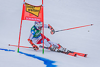 28th December 2020; Semmering, Austria; FIS Womens Giant Slalom World Cu Skiing;  Michelle Gisin of Switzerland in action during her 1st run of women Giant Slalom of FIS ski alpine world cup at the Panoramapiste in Semmering