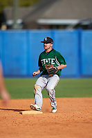 Farmingdale Rams second baseman Joshua Shapiro (9) during a game against the Union Dutchmen on February 21, 2016 at Chain of Lakes Stadium in Winter Haven, Florida.  Farmingdale defeated Union 17-5.  (Mike Janes/Four Seam Images)