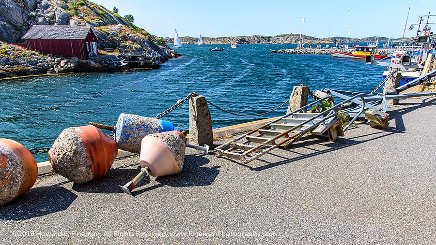 Harbor in Tjorn Sweden