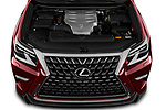 Car Stock 2020 Lexus GX - 5 Door SUV Engine  high angle detail view