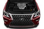Car Stock 2020 Lexus GX - 5 Door SUV Engine  high angle detail view