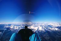 Segelflug, Welle, ASH 25, Cockpit, Himmelsblau, Berge, Südfrankreich